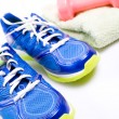 Exercise, sport shoes ready to workout - Photo