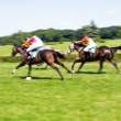 Horse racing, motion blur — Stock Photo