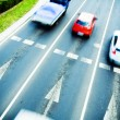 Traffic jam with blurred cars in motion — Stock Photo #3472693
