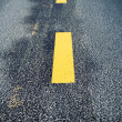 Road marking change — Foto Stock