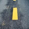 Road marking change — Stock Photo