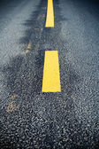 Road marking change — Stock Photo