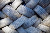 Tire recycling landfill — Stock Photo