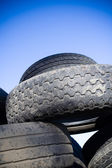 Tire recycling, landfill — Stock Photo