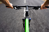 Bicycle rider, motion blur — Stock Photo