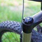 Mountain bike absorber detail — Stock Photo