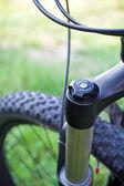 Górski rower pochłaniacz detal — Zdjęcie stockowe