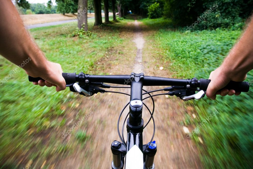 Bicycle Ride In City Park Stock Photo C Blasbike 3568625