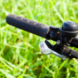 Постер, плакат: Mountain bike handlebar detail