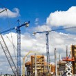 Football stadium construction site — Stock Photo