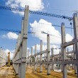 Soccer stadium construction site — Stock Photo