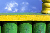 Köy çit — Stok fotoğraf