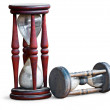 Stock Photo: Wooden sand clocks
