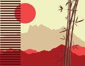 Japanese theme — Stock Vector