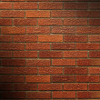 Stock Photo: Red Brick Wall lit diagonally