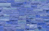 Seamless blue masonry background — Stock Photo