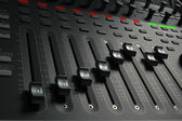 Audio Mixing Board Sliders — Stock Photo