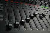 Audio Mixing Board Sliders — Foto de Stock