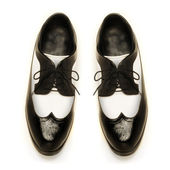 Two-tone patent leather men's shoes — Stock Photo