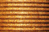Rusty corrugated metal surface — Stock Photo