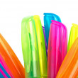 Upper parts of fluorescent markers — Stock Photo #3059477