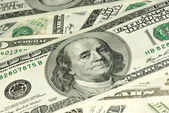 Close-up shot of $100 bill. Shallow DOF — Stock Photo