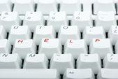Computer keyboard with 'HELP' keys — Stock Photo
