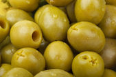Green pitted olives — Stock Photo
