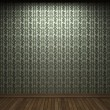 Stock Photo: Illuminated fabric wallpaper