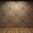 Illuminated tile wall — Foto Stock