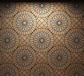 освещенная плитка стены — Стоковое фото