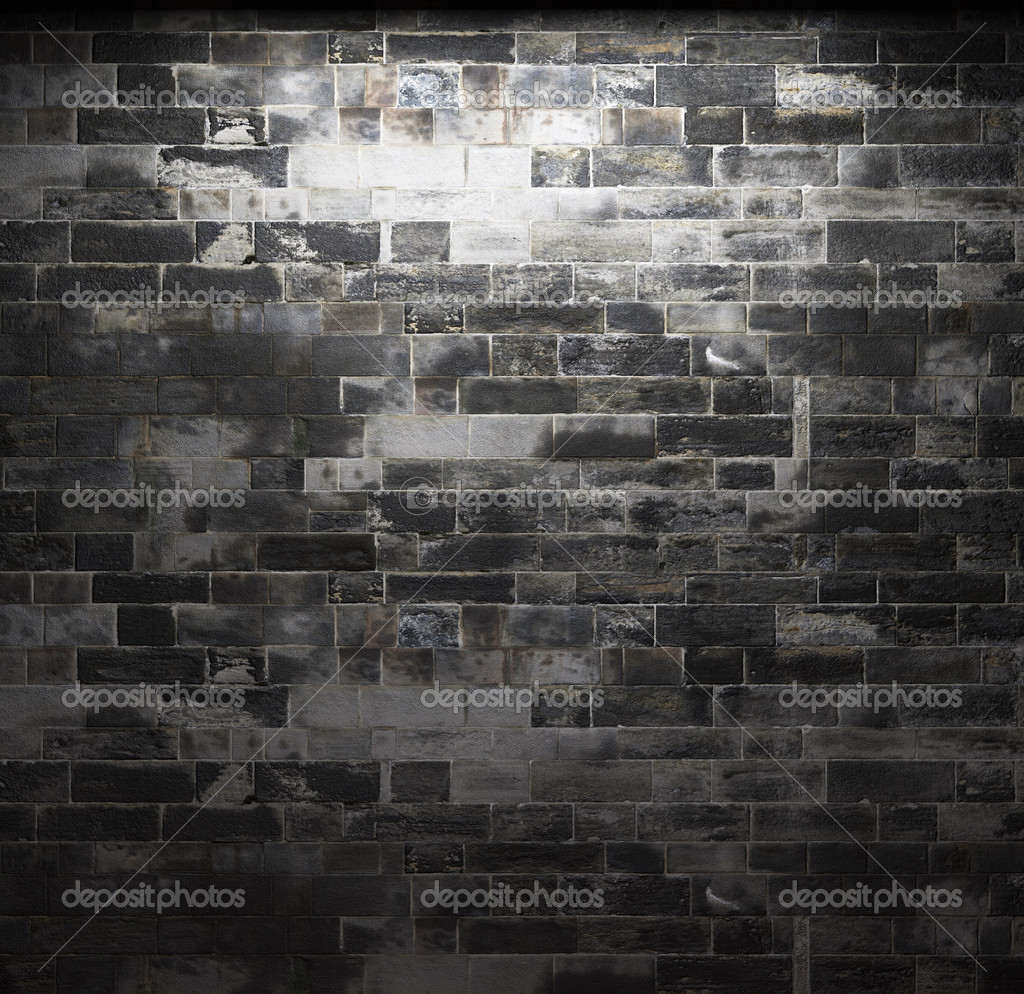 Illuminated stone wall made in 3D graphics  Foto de Stock   #2800787