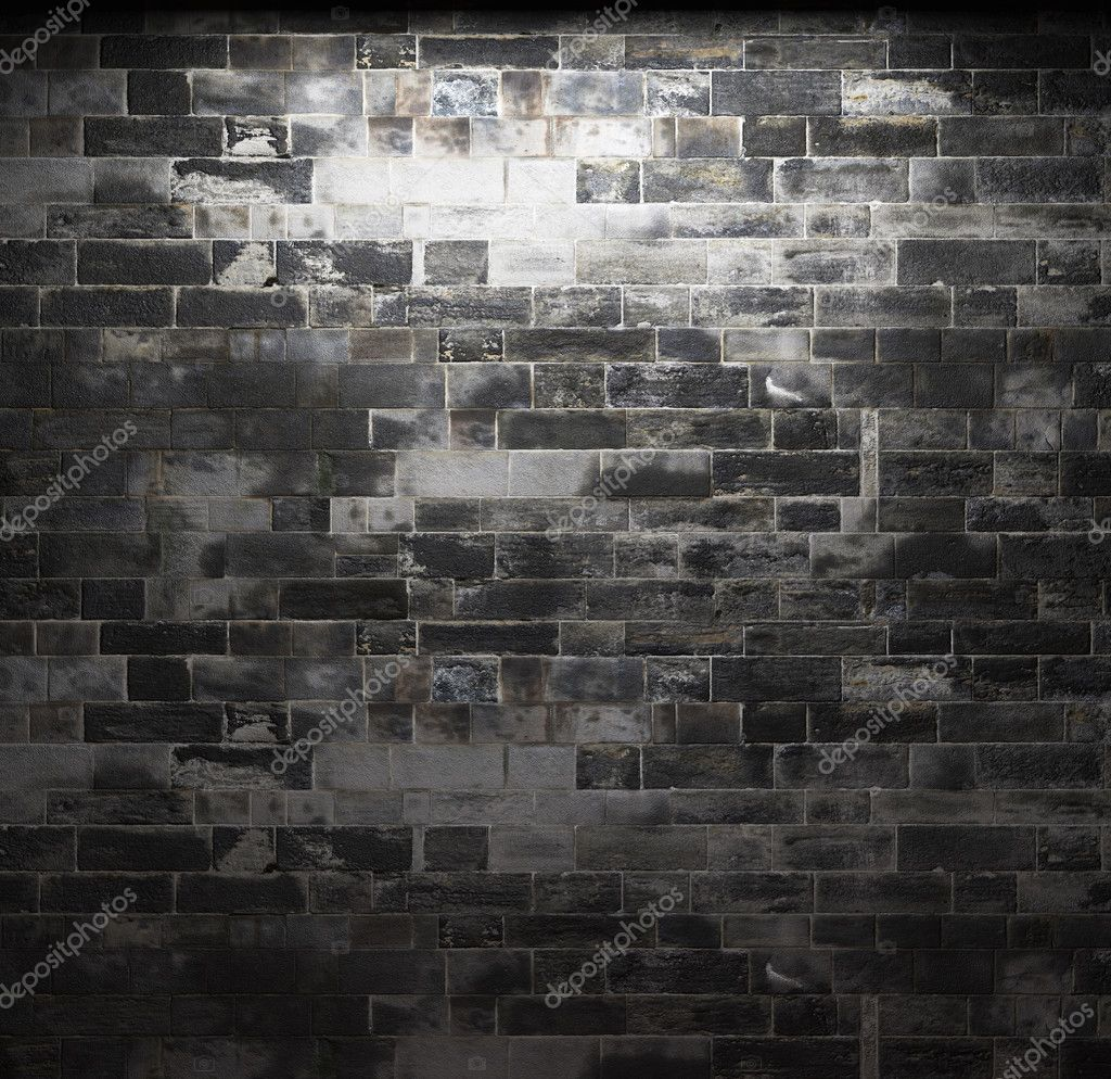Illuminated stone wall made in 3D graphics — Stock Photo #2800787
