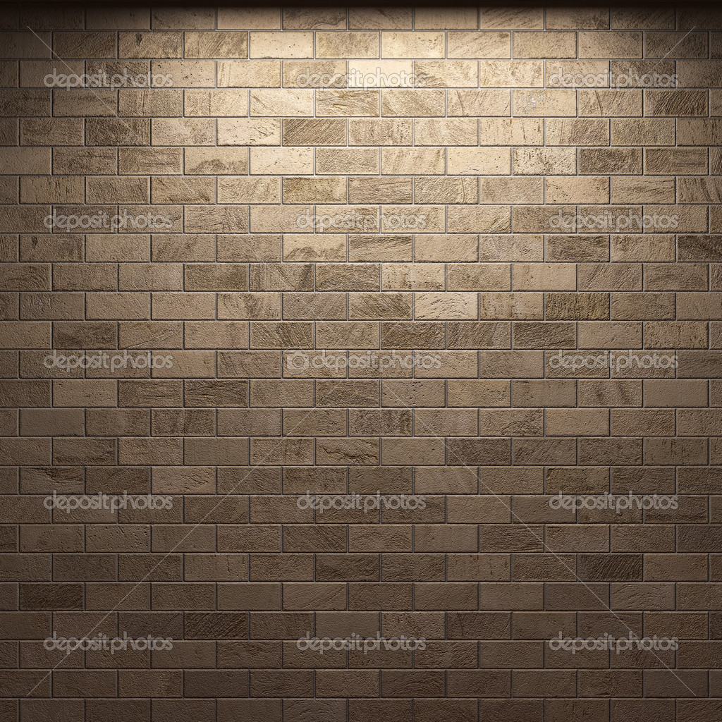 Illuminated stone wall made in 3D — Stock Photo #2800819