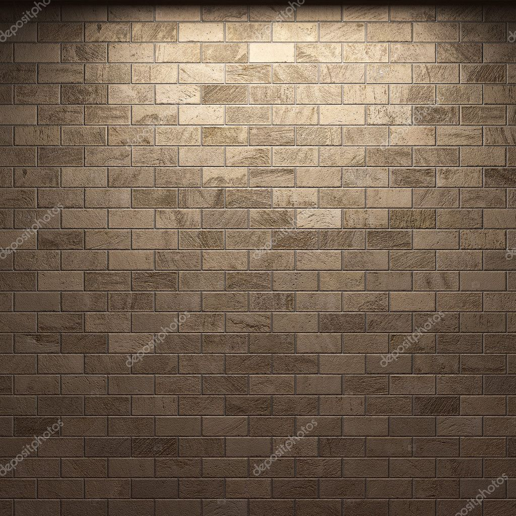 Illuminated stone wall made in 3D — ストック写真 #2800819