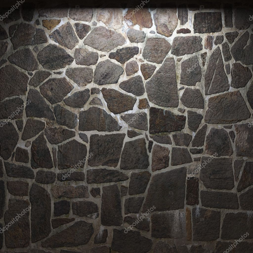 Illuminated stone wall made in 3D graphics — Stock Photo #2804677