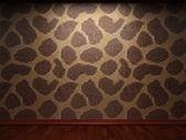 Illuminated tile wall — Stock Photo