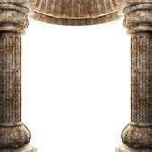 Stone columns and arch — Stock Photo