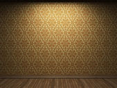 Illuminated fabric wallpaper — Stock Photo