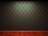 Illuminated fabric wallpaper — Stock Photo