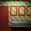 Sofa, door and frames - Foto Stock