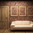 Sofa, door and frames — Stock Photo #3182635