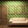 Sofa, door and frames — Stock Photo