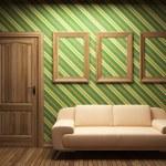 Sofa, door and frames — Stock Photo