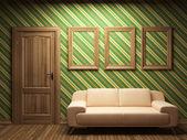 Sofá, puertas y marcos — Foto de Stock