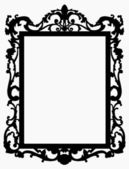 Vintage picture frame. Vector — Stock Vector