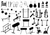 Gym equipment (vector) — Stock Vector