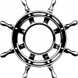 Ship steering wheel  (vector) - Vettoriali Stock