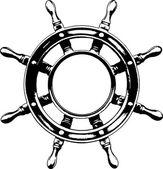 Ship steering wheel (vector) — Stock Vector