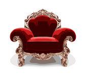 Izolované klasické zlaté židle (vektor) — Stock vektor